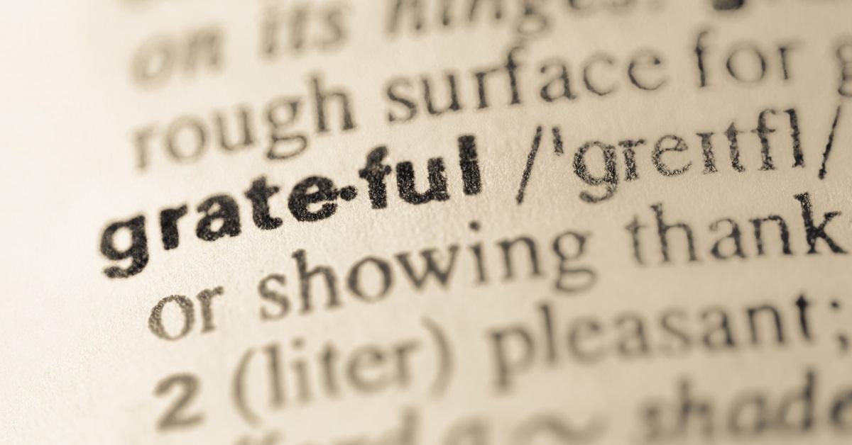 A New Kind of Grateful